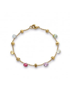 Marco Bicego Paradise Yellow Gold and Mixed Stone Single Strand Bracelet