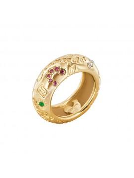 Chantecler anello Suamem oro giallo fascia stretta