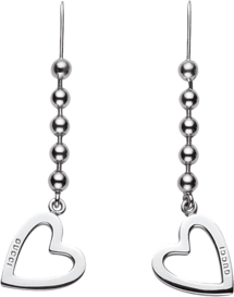 4ad8605245225 GUCCI SILVER RINGS WITH BOULE CHAIN AND PENDANT HEART-TOGGLE HEART -  Lattuca gioielli