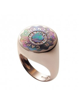 CHANTECLER ROSE GOLD RING WITH MOTHER OF PEARLS AND DIAMONDS-ANIMA