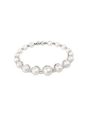 CHANTECLER WHITE GOLD BRACELET WITH FRESHWATER PEARLS AND DIAMONDS-CHERIE