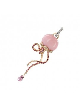 CHANTECLER JELLYFISH CHARM SET IN ROSE AND WHITE GOLD AND PRECIOUS STONES-MARINELLE
