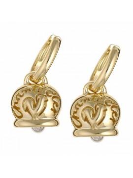 Chantecler orecchini Campanella medi in oro giallo con diamante