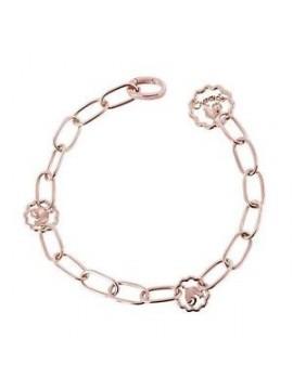 Chantecler Accessori bracciale maglia ovale in oro rosa 9kt 20 cm