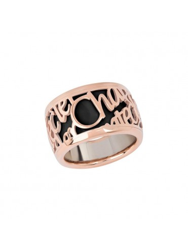 nuovo concetto 8086c bb5bf Chantecler Anello Pour Parler a fascia larga in Oro Rosa e Smalto ...