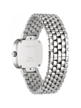 GUCCI SMALL CASE IN STAINLESS STEEL WITH SILVER DIAL- G-GUCCI