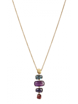 Marco Bicego Murano Yellow Gold and Mixed Stone Necklace