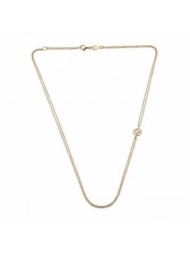 Chantecler Accessories  Double Necklace in Yellow Gold with Small Rooster