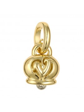 Chantecler Small Bell Charm set in Yellow Gold with Diamond Clapper
