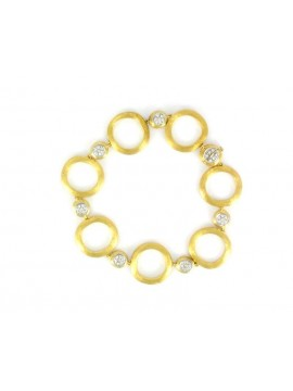 Marco Bicego Jaipur Link Bracelet in Yellow Gold and Diamonds