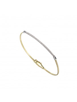Marco Bicego Goa Bracelet in Yellow Gold with Diamonds Pavè