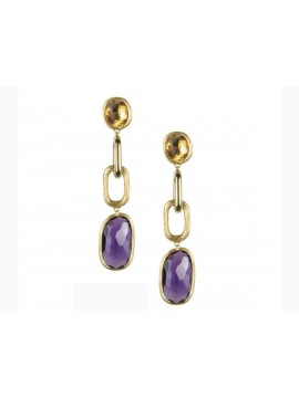 Marco Bicego Murano African Amethyst and Yellow Topaz Earrings