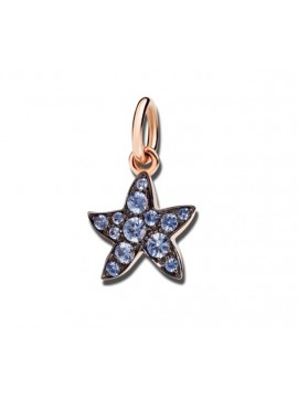 Dodo Starfish charm in Rose Gold with Light Blue Sapphires