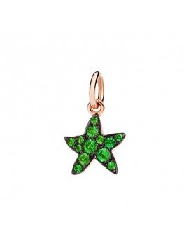Dodo Starfish charm in Rose Gold with Dodo Starfish charm in Rose Gold with Tsavorites