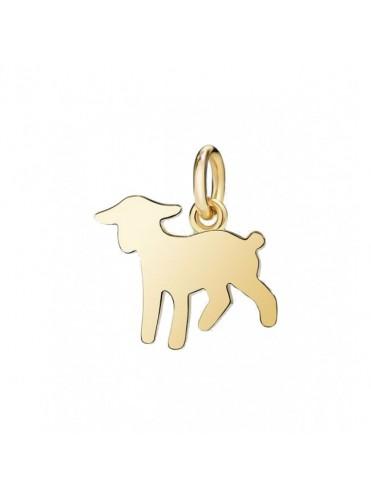Dodo Lamb Big Charm in Yellow Gold