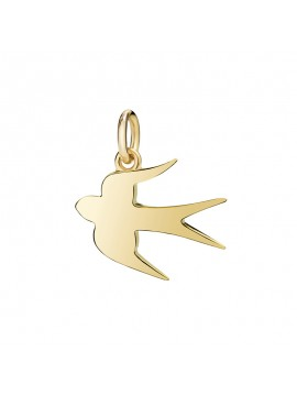 Dodo Swallow Maxi Charm in Yellow Gold