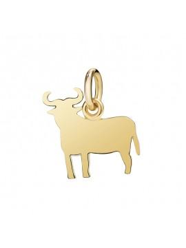 Dodo Ciondolo Toro in Oro Giallo Grande
