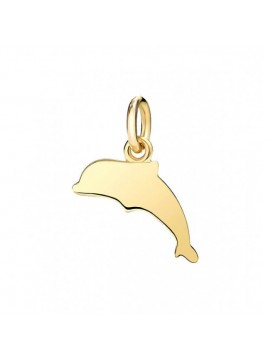 Dodo Dolphin Small Charm in Yellow Gold