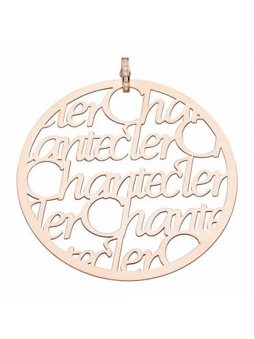Chantecler ciondolo Pour Parler oro rosa e diamanti maxi