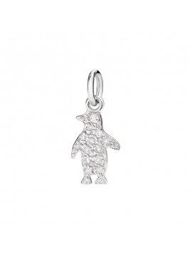 Dodo Penguin Small Charm set in White Gold with Pavè Diamonds