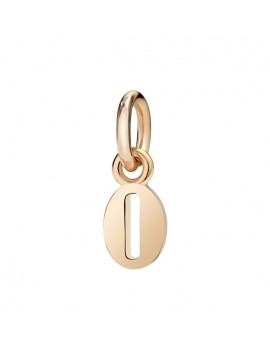 Dodo Nember 0 Charm in Rose Gold