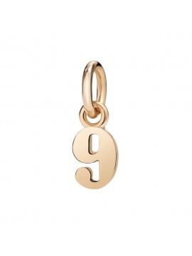 Dodo Number 9 Charm in Rose Gold