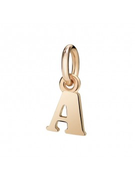 Dodo Letter A Charm in Rose Gold