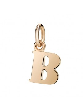 Dodo Letter B Charm in Rose Gold