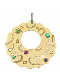 Chantecler Suamem Maxi Charm set in Yellow Gold with Precious Stones