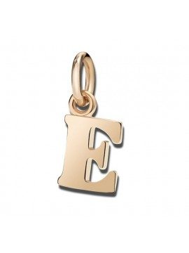 Dodo Big Letter E Charm in Rose Gold