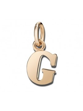 Dodo Small Letter D Charm in Rose Gold