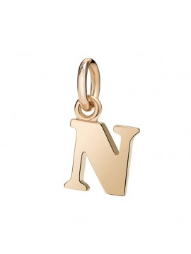 Dodo Big Letter N Charm in Rose Gold
