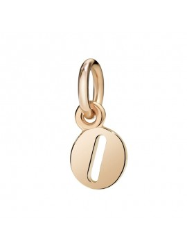 Dodo Big Letter O Charm in Rose Gold