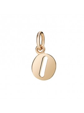 Dodo Small Letter O Charm in Rose Gold