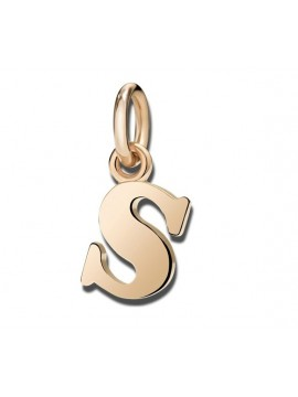Dodo Big Letter S Charm in Rose Gold