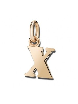Dodo Big Letter X Charm in Rose Gold