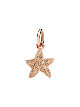 Dodo Starfish charm in Rose Gold with Brown Pavè Diamond