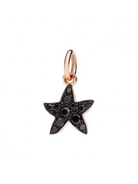 Dodo Starfish charm in Rose Gold with Black Diamonds