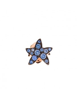 Dodo Starfish Single Earring in Rose Gold with Light Blue Sapphires