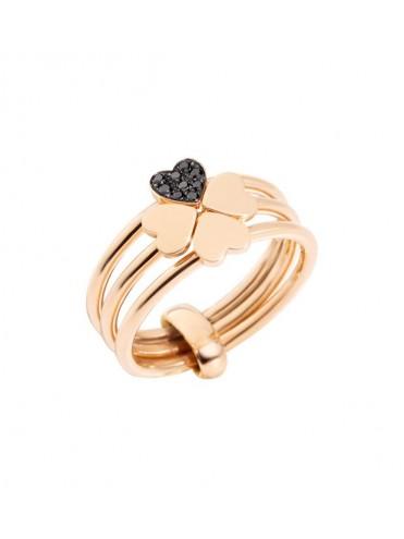 godere del prezzo più basso Nuovi Prodotti scegli ufficiale Dodo Anello Lucky In Love Oro Rosa 9kt e Diamanti Neri - Lattuca gioielli