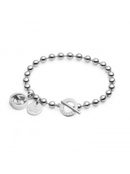 GUCCI BRACELET IN SILVER AND ENAMEL WITH DIAMANTE PATTERN ... 7120ed9d9708