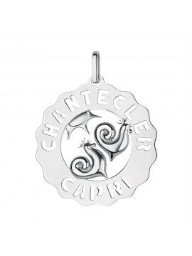 Chantecler ciondolo Logo Galli argento