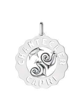 Chantecler Logo Maxi Charm in Silver with Rooster Symbol