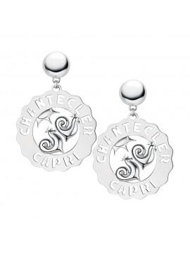Chantecler orecchini Logo Galli argento maxi
