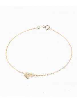 Bracciale in oro giallo, cuore con leBebé inciso