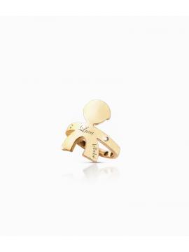 Le Bebè Anello a sella Maschietto oro giallo