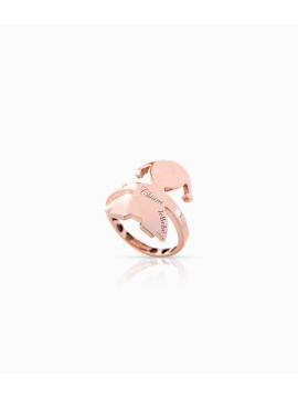 Le Bebè Anello a sella Femminuccia oro rosa