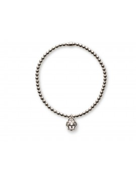 CHANTECLER Silver bracelet with micro campanella charm in silver and hearts