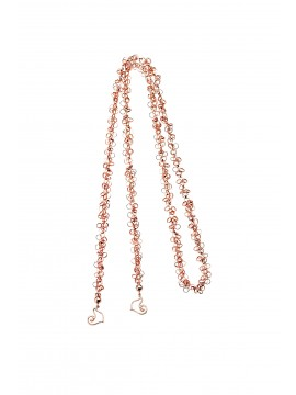 CHANTECLER ACCESSORI Catena sciarpina Diamour Folies in Oro rosa