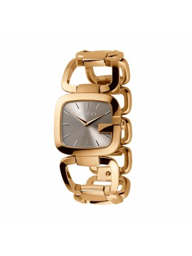 GUCCI SMALL CASE IN PVD YELLOW GOLD WITH BROWN DIAL- G-GUCCI
